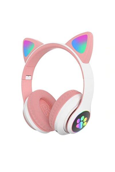 Pell Karler Stn-28 Bluetooth Mikrofonlu Led Işıklı Hafıza Kartı Girişli Kulak Üstü Kedi Kulaklık