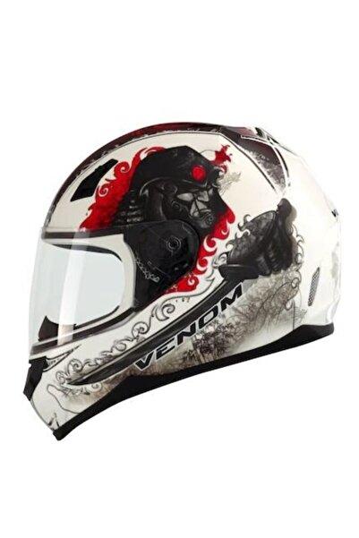 VENOM Vf-391 Samurai Graphic-2 Kapalı Motosiklet Kaskı