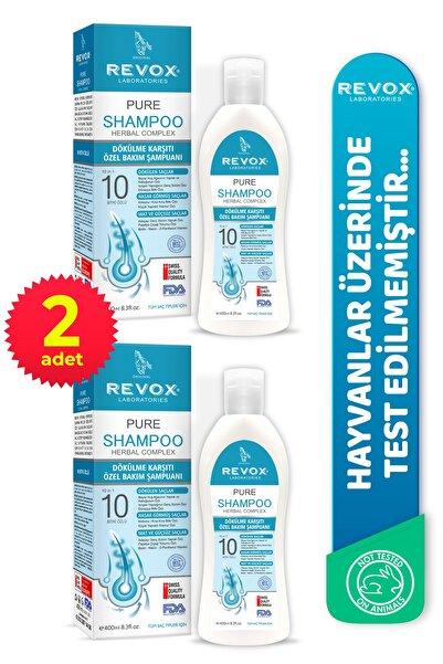 Revox Pure Saç Dökülmelerine Karşı Bitkisel Özel Bakım Şampuan 2'li Set