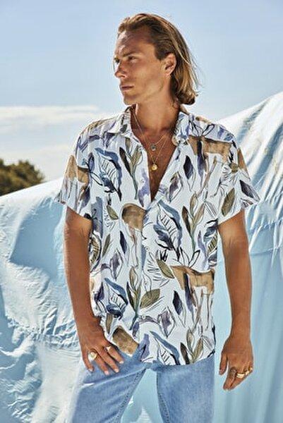 Çok Renkli Erkek Regular Fit Gömlek Yaka Dökümlü  Gömlek TMNSS20GO0568