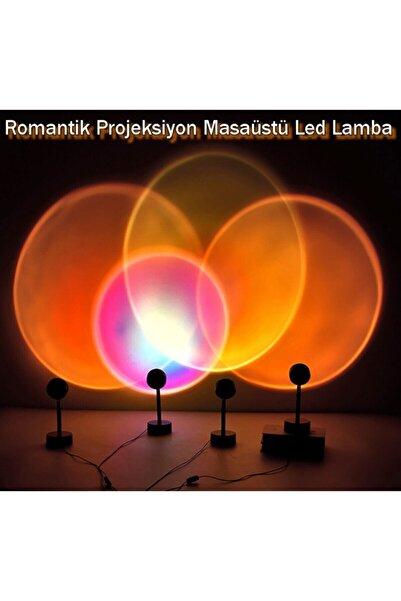 ACL Sunset Günbatımı Projeksiyon Usb Masaüstü Standlı Led Lamba Gökkuşağı Romantik Backlight Dekoratif