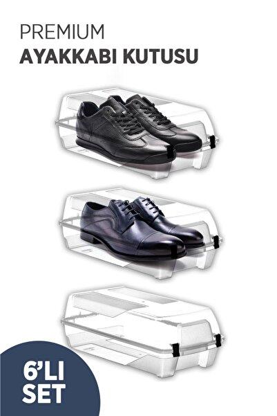 tıkla yolla 6 Adet Kilit Kapaklı Erkek Ayakkabı Saklama Kutusu