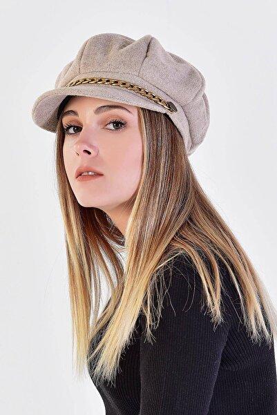 Addax Kadın Açık Kahve Denizci Tipi Kaşe Şapka Şpk02 - E1 ADX-0000020361