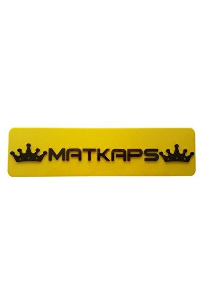 EFL Matkaps Dekor Sarı Plaka