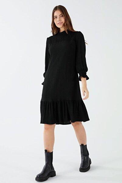 Chima Robası Ve Kol Ağzı Lastikli Elbise