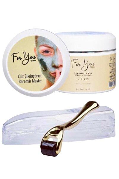 For You Gold Seramik Maske (Akne Karşıtı - Gözenek Sıkılaştırıcı Maske) & Dermaroller