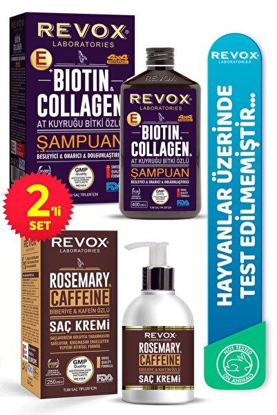 Revox Biotin & Kolajen E Vitamini Destekli Saç Bakım Şampuanı Biberiye Ve Kafein Özlü Saç Kremi