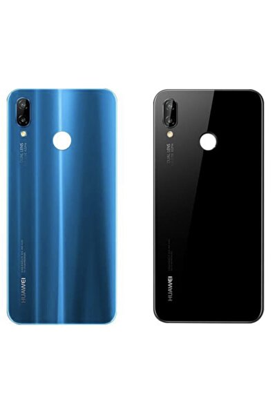 EXPRESSS Huawei P20 Lite Uyumlu Mavi Arka Kapak Lens Kamera Camlı