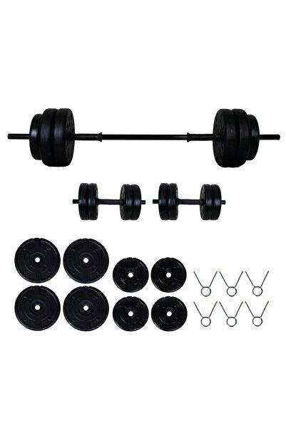 Aydın Sport 35 kg Halter Seti Dambıl Seti ve Fitness Spor Seti
