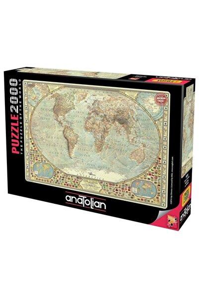 Anatolian Puzzle 3935 Anatolian, Dünya Haritası 2000 Parça Puzzle