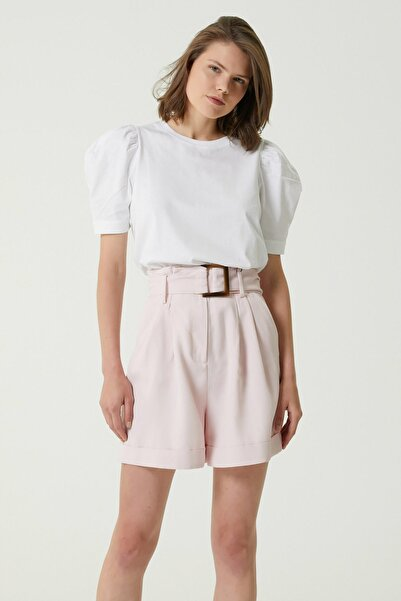 Network Kadın Basic Fit Beyaz Bisiklet Yaka T-shirt 1078502