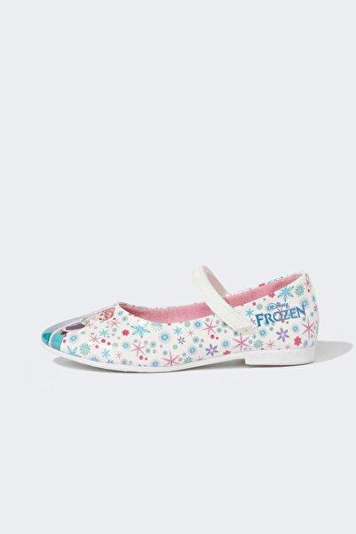 DeFacto Kız Çocuk Frozen Lisanslı Babet Ayakkabı