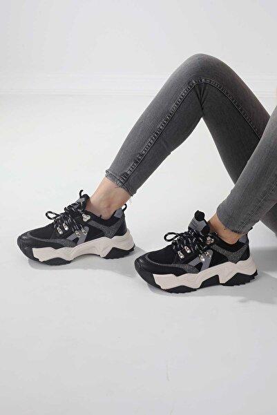 Tinka Bell Shoes 65136-2 Kadın Spor Ayakkabı Siyah Sim