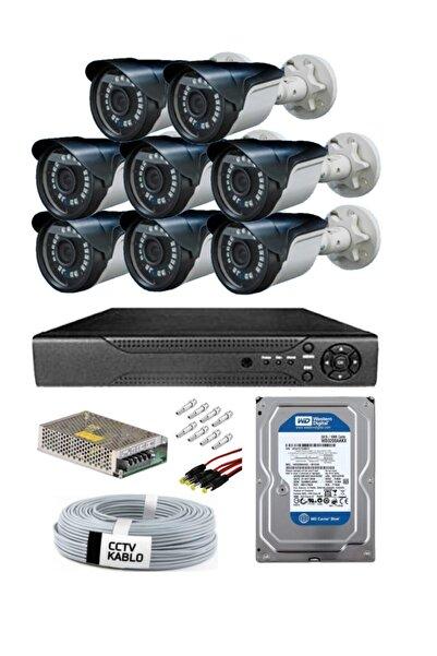maxcam 8 Kameralı 5 Mp Sony Lens Gece Görüşlü Full Hd Güvenlik Kamerası Sistemleri- Kaliteli Kamera Sistemi