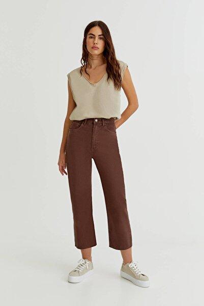 Pull & Bear Straight Fit Crop Jean