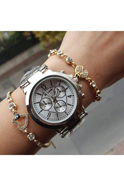 Ricardo Bay&bayan Çelik Analog Rolex Model Kol Saati