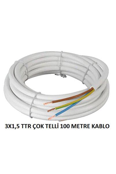 PROICH 3x1,5 Ttr 100 Metre Çok Telli Beyaz Renk Izalasyonlu Topraklı Seyyar Elektrik Kablosu