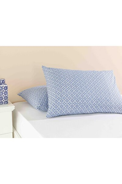 English Home Blue Blanc Pamuklu 2'li Yastık Kılıfı 50x70 Cm Lacivert