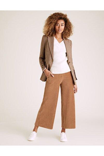 Marks & Spencer Kadife Wide Leg Pantolon