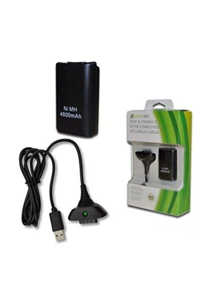 Elvita Xbox 360 Gamepad Uyumlu Şarj Kiti Batarya 4800 Mah Şarj Aparatı