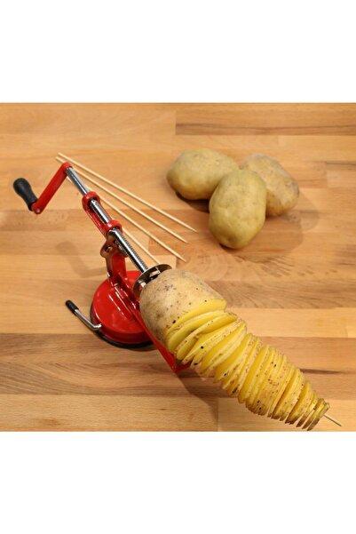 BBA HOME Spiral Patates Dilimleyici Çubukta Patates Cips Patates Dilimleme Makinesi Spral Patates Cips