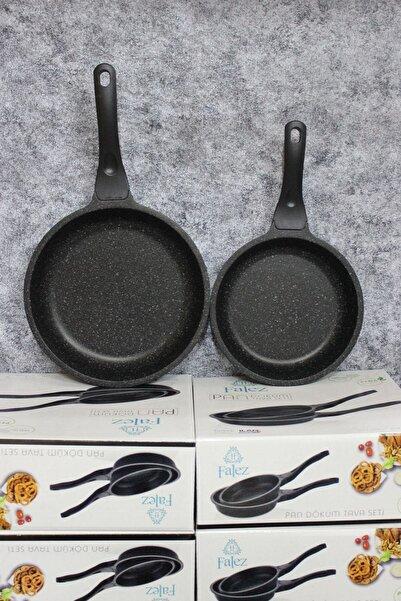 FALEZ Pan 2'li Döküm Tava Seti (20cm-24cm)
