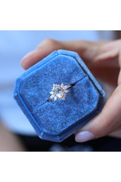 INZA mücevherat Vintage Beyaz Safir & Pırlanta Artemis Yüzük