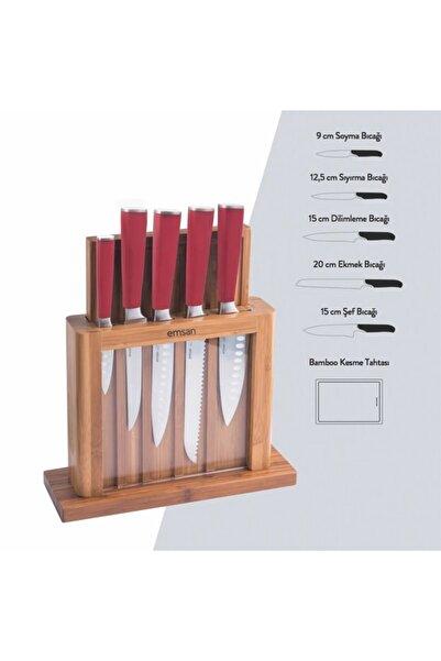 Emsan Matriks Bıçak Seti 7 Parça Kırmızı