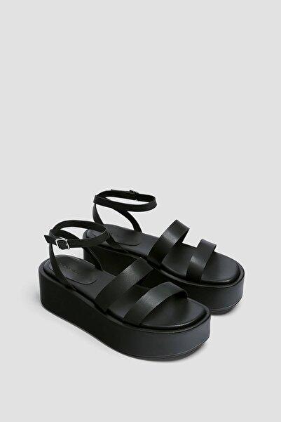 Pull & Bear Bantlı Blok Dolgu Topuk Ayakkabı