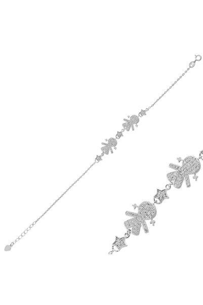 Silverella Gümüş 925 Ayar Kız Çocuk & Yıldız Zirkon Taşlı Bileklik