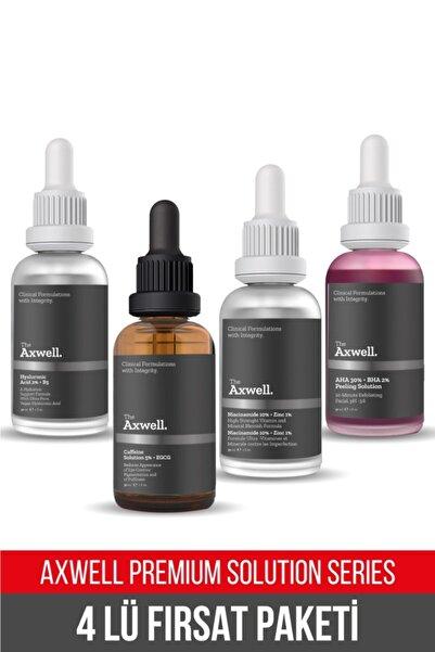 AXWELL 4'lü Fırsatseti(caffeine %5+egcg-hyaluronic Acid%2+b5-aha%30+bha%2- Niacinamide%10+zinc%2)