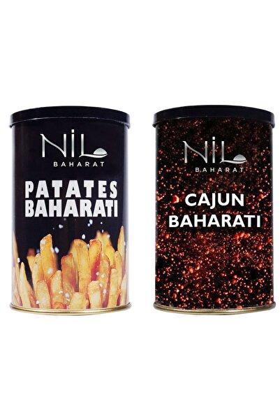 Nil Baharat 2 Li Set Patates Baharatı 200 Gr - Cajun (kajun) Baharatı 180 Gr.