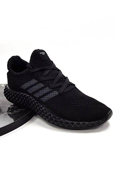 sneakers Park Unisex Siyaha Siyah Rahat Spor Ayakkabı