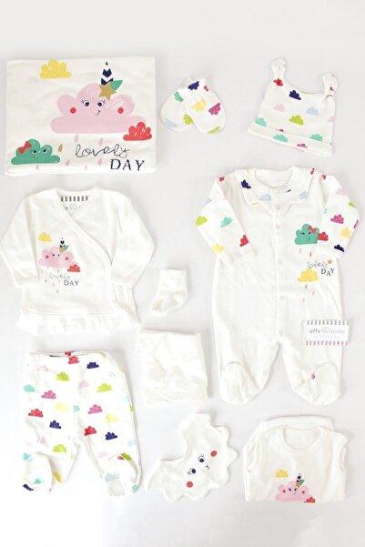 İmaj Beyaz Renkli Bulutlar Kız Bebek 10lu Hastane Çıkışı 100172