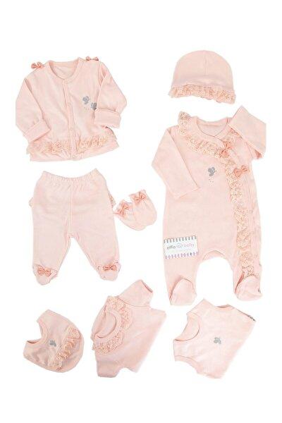 İmaj Somon Dantelli Kelebekli Kız Bebek 8li Hastane Çıkışı 1001875