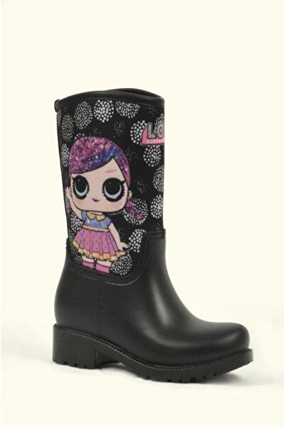 Gigi Kız Çocuk Siyah Lol Yağmur Çizmesi