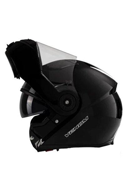VENOM Motosiklet Kaskı Çene Açılır Vf-370 Siyah
