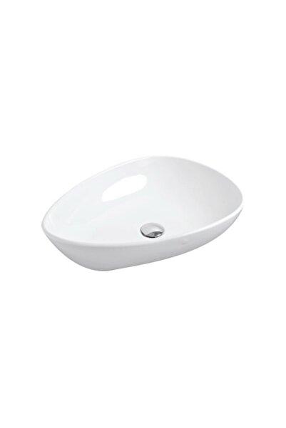 GÜRAL VİT 37x59 Badem Mobilya Üzeri Lavabo Beyaz