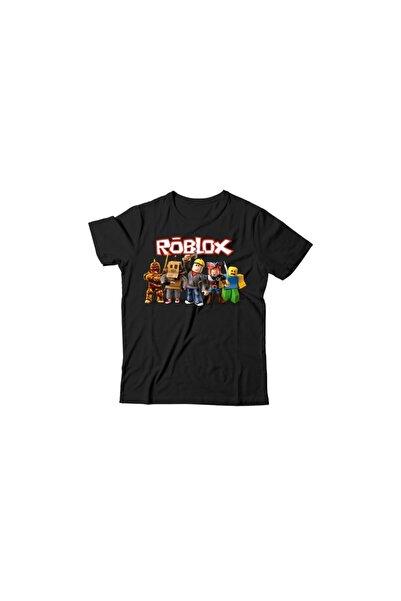 Alfa Tshirt Unisex Çocuk Siyah Roblox T-shirt