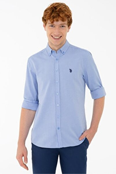 Mavı Erkek Gömlek