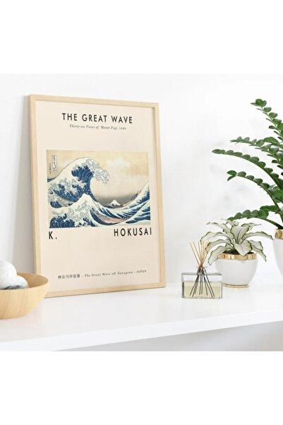 TMCdecoration Thegreatwave Çerçeveli Poster Baskı (50x70cm) Huş Rengi