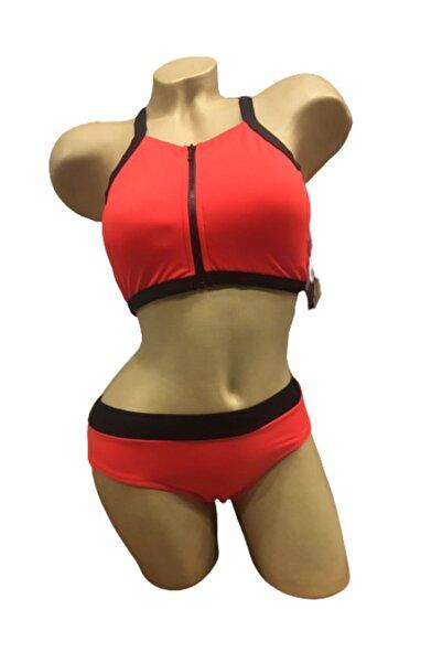 Kom Kadın Kırmızı Celle Bikini Takımı