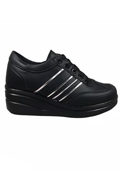 uğurtek All Force Bağcıklı Fermuarlı Dolgu Taban Günlük Iş Rahat Kadın Klasik Spor Ayakkabı
