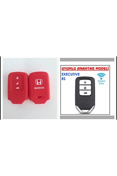 Honda Civic Fc5 Crv Hrv ---sustasız--- Silikon Anahtar Kılıfı Kırmızı Renk 1 Adet