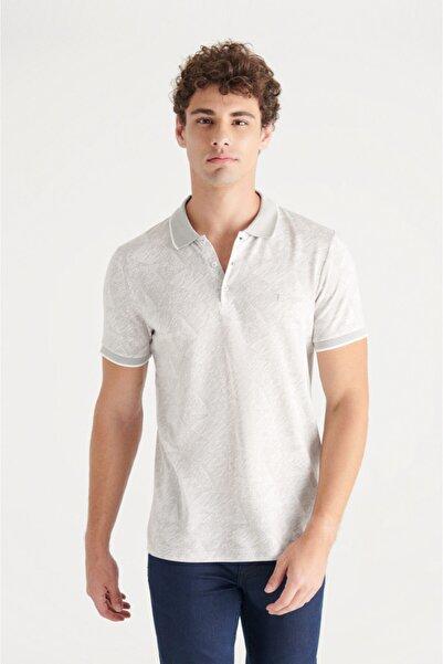 Avva Erkek Taş Polo Yaka Jakarlı Slim Fit T-shirt A11y1196