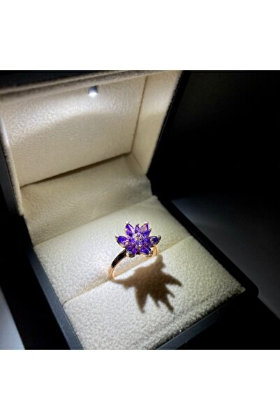 LOTUS JEWELLERY Lotus Çiçeği Yüzük - Rose Gold Kaplama - 925 Ayar Gümüş Yüzük