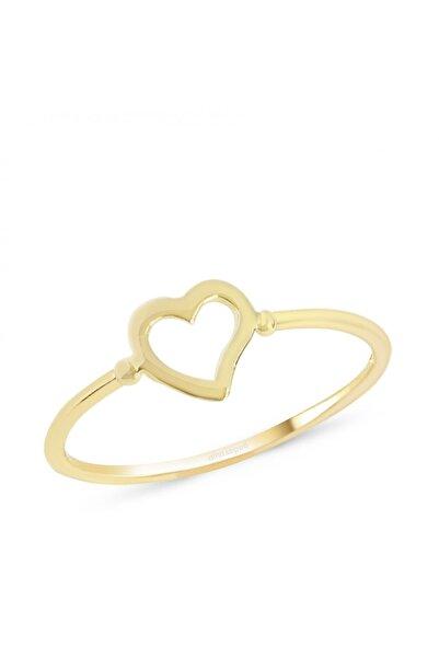 Altın Sepeti Altın Ince Kalpli Yüzük