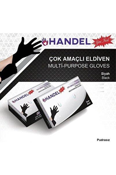HANDEL Pudrasız 100lü M/siyah Çok Amaçlı Eldiven Lateks Içermez