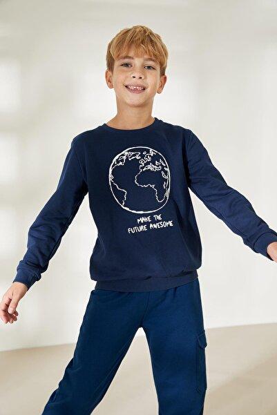 DeFacto Erkek Çocuk Baskılı Sweatshirt