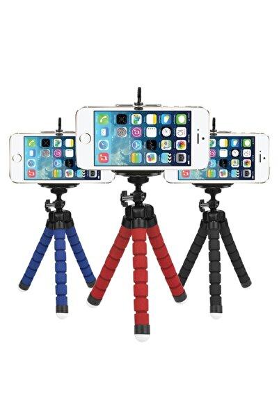CepEvi Mini Esnek Ahtapot Telefon Tripodu Selfie Masa Üstü Standı